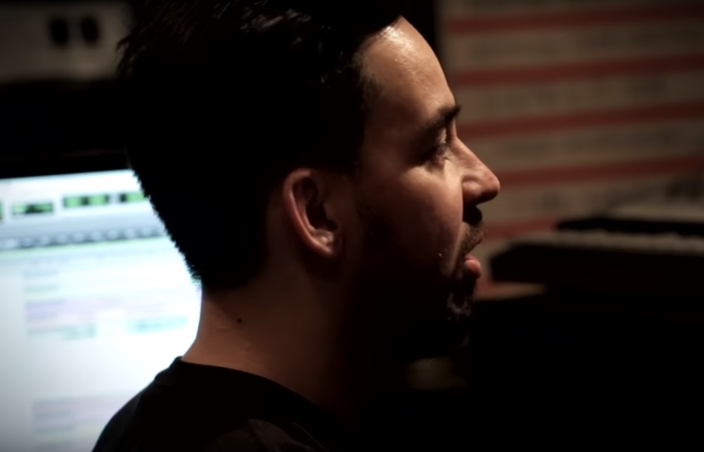 Linkin Park MIke Shinoda in studio