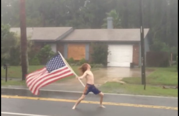 AlteRock Florida Rocker Waves American Flag Blasts