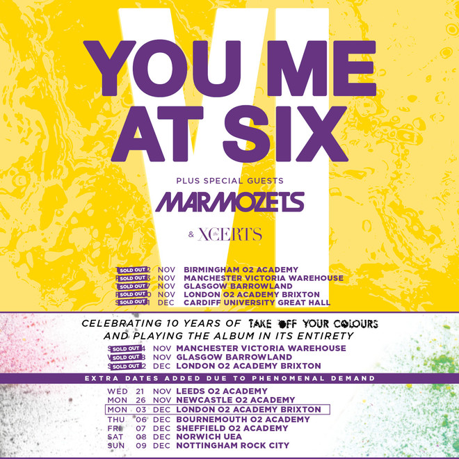 You Me At Six tour 2018