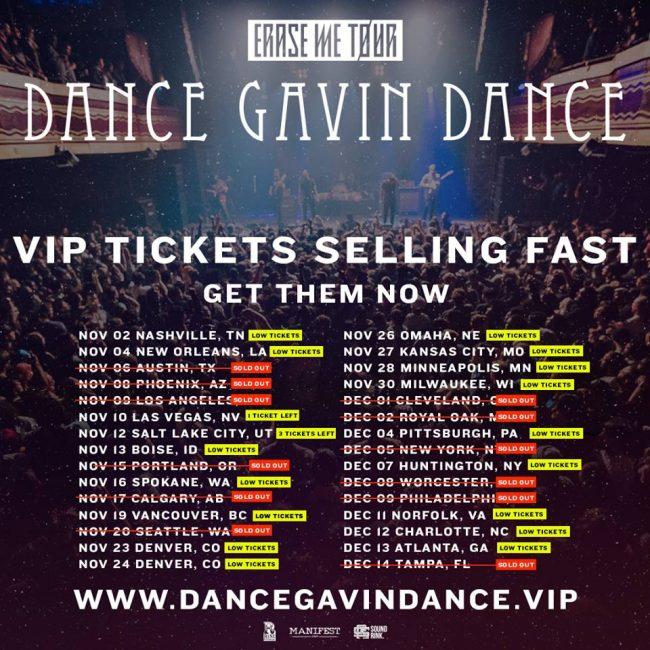 Dance Gavin Dance tour 2018