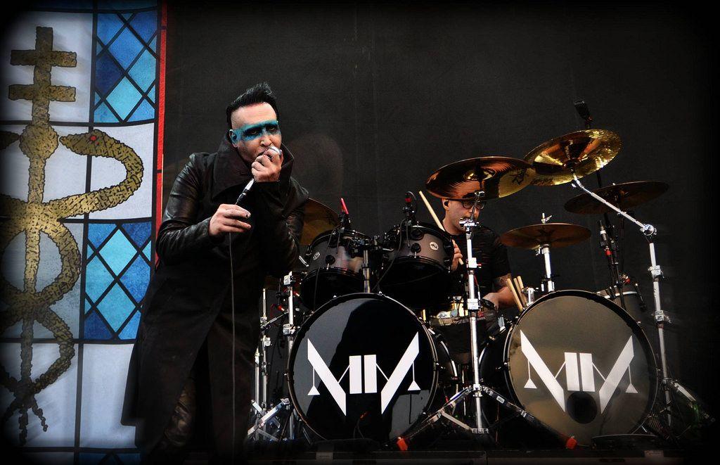 Drummer Gil Sharone Marilyn Manson live