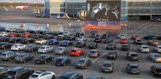 Drive-in Lituânia cinema airport vilnius