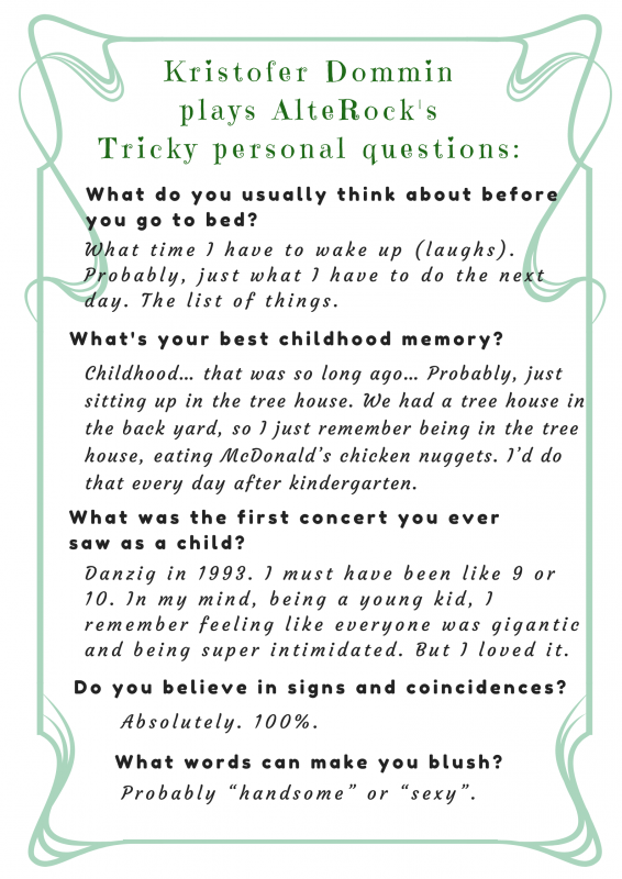 Kristofer Dommin interview tricky questions 2