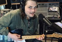Gerard Way My Chemical Romance in studio