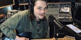 Gerard Way My Chemical Romance in studio