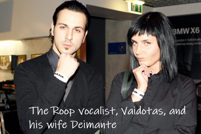 The Roop frontman Vaidotas with his wife