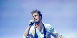 Uku Suviste Eurovision Uku Suviste, Estonia, Second Rehearsal, Rotterdam Ahoy, 13 May 2021 — EBU, ANDRES PUTTING